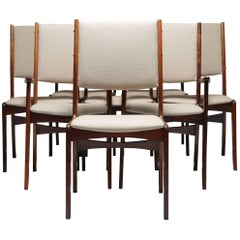 Midcentury Set of eight Rosewood Dining Chairs by Johannes Andersen