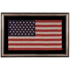 45 Stars in Staggered Rows on an Antique American Parade Flag