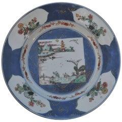 Famille Verte Powder Blue Plate, Kangxi, circa 1700