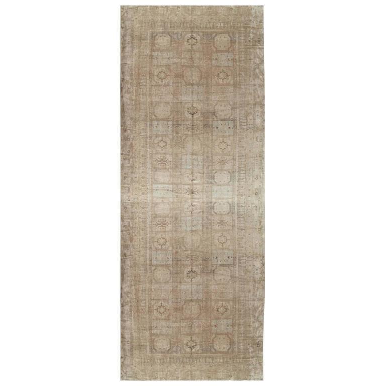 Antique Khotan Rug, Handmade Oriental Rug, Soft, Beige
