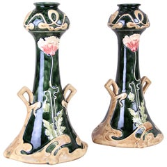 Pair of French Art Nouveau Vases, France, circa 1900