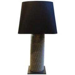 Single Round Radiator Lamp, Belgium, Midcentury