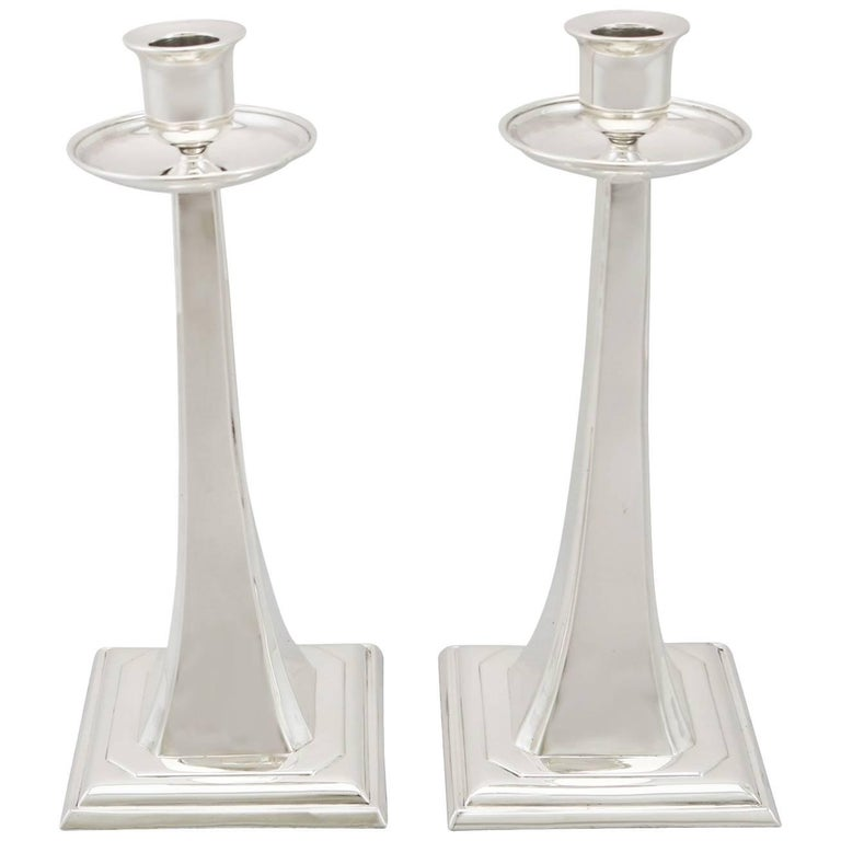 1920s Sterling Silver Candlesticks