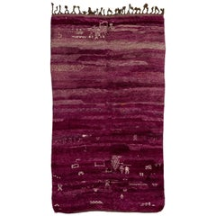Fabulous Purple Vintage Moroccan Beni MGuild Rug 6.6x11.3