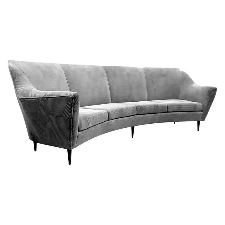 Pleasing Ico Parisi Curved Four Seat Sofa Download Free Architecture Designs Xaembritishbridgeorg