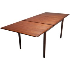 Midcentury Extending Teak Dining Table by Dyrlund, Denmark