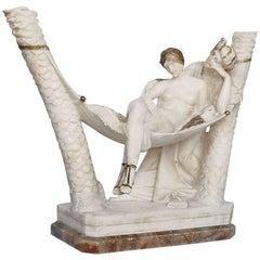 Art Deco Alabaster Sculpture by Fiaschi