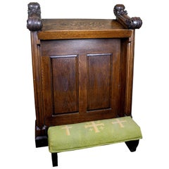 "Carved Oak ""Vesper"" Kneeler"