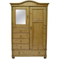 Pine Bonnet Top Compactum Armoire