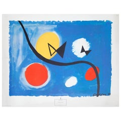 Hovering Bowties of Alexander Calder Lithograph, 1963