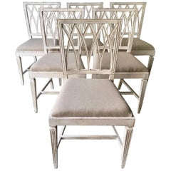 Set of Six French 19th Century Side Chairs
