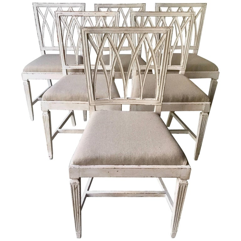 Set of Six French 19th Century Side Chairs For Sale