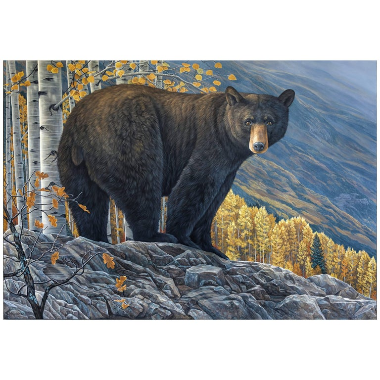 """Aspen Grove, Black Bear"" by Anna Widmer"