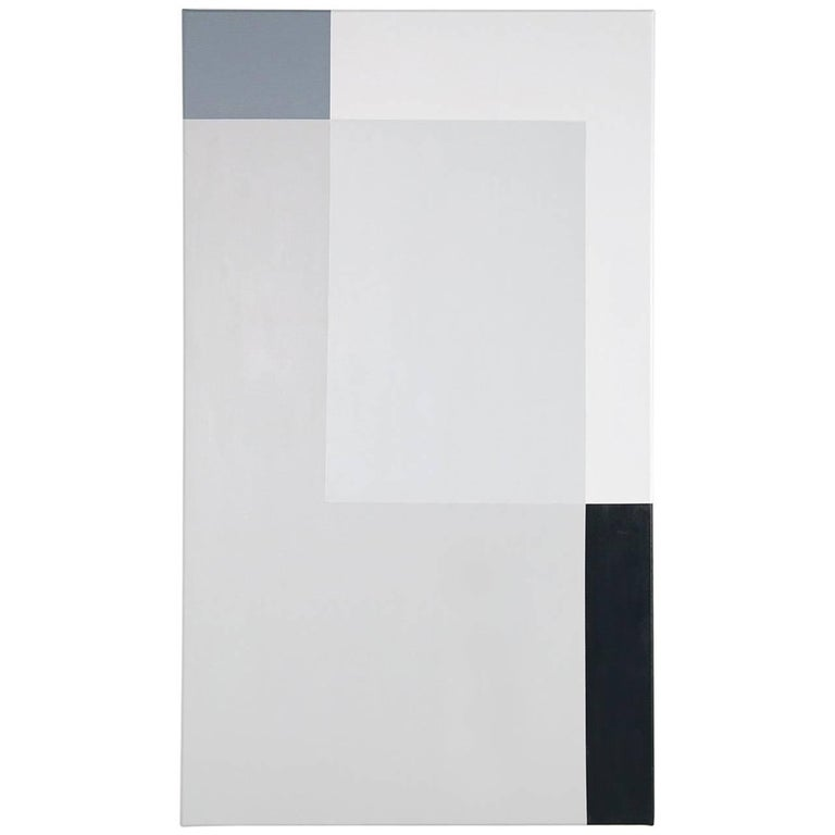 Large Minimalist Geometric Painting Acrylic on Canvas No. 2 of 4 Nathan Lindberg