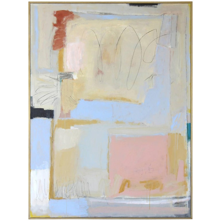 Large Abstract Painting by Claiborne Riley  For Sale