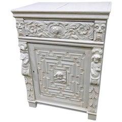 Cement Encrusted Renaissance Style Cabinet
