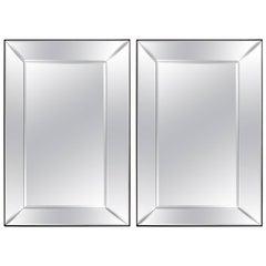 Pair of 5 Panel Beveled Mirrors