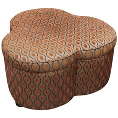 Trefoil Shaped Upholstered Ottoman