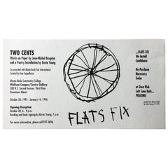 Vintage Basquiat announcement card (Basquiat 'Flats Fix')