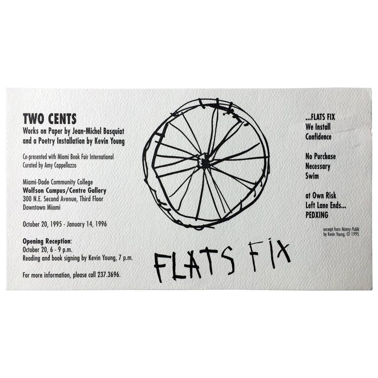 Basquiat announcement card, 1985, offered by Lot 180