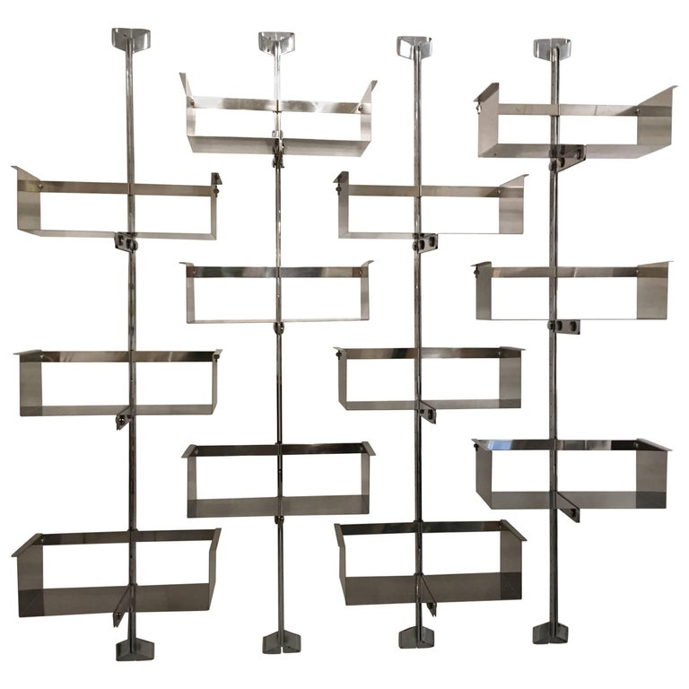 Vittorio Introini Stainless Steel Shelving System
