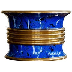 Huge Lapis and Gold Cache-Pot by Christian Dior, circa 1980