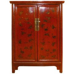 Fine Red Lacquer Cabinet with Gilt Motif