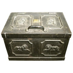 George II Cast Iron Strong Box Attributed to Humphrey Gainsborough