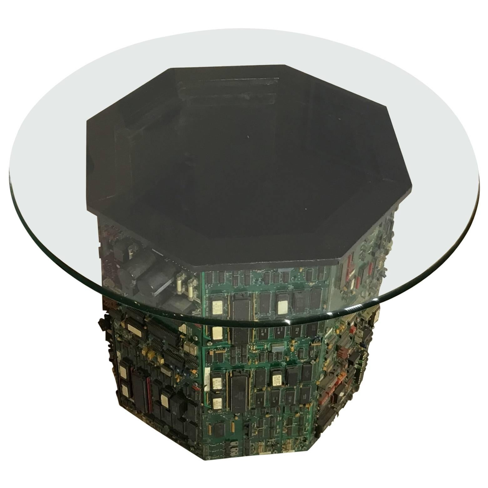 Midcentury Small Octagon Coffee Table For Sale