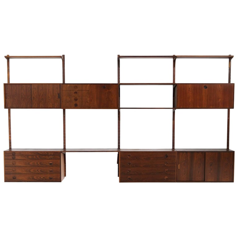 Beautiful 1960s Wall Unit Rud Thygesen & Johnny Sorensen Shelving HG Furniture For Sale