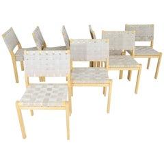 Set of Eight Alvar Aalto 615 Chairs