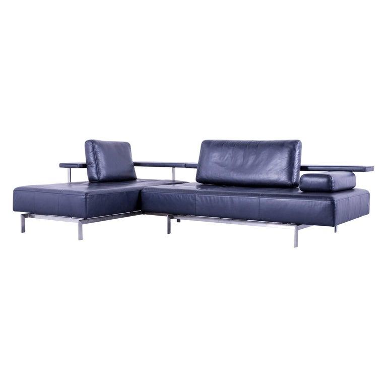 Rolf Dono rolf dono designer corner sofa leather navy blue blue