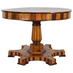 Italian, Emilia Romagna, Walnut and Cherrywood Inlaid Centre Table, circa 1810