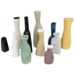 Set of 11 Ceramic Vases by Luna Garcia