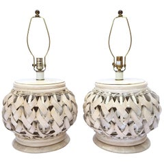 Woven Wide Rattan Table Lamps