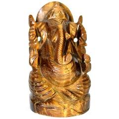 Natural Tiger's Eye Ganesh Statue, 1 lb
