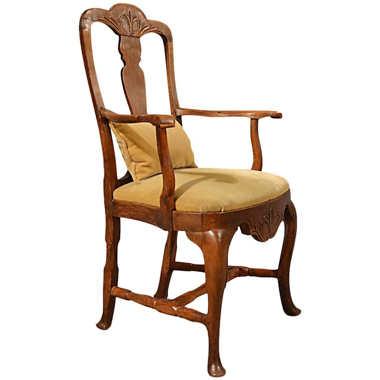 Elbow Chair Large, Oak Ash Elm, Study Desk, Georgian Armchair, circa 1800