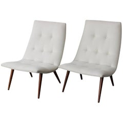 Pair of Midcentury Slipper Chairs