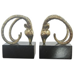 Ibex Bookends in the Manner of Alain Chervet