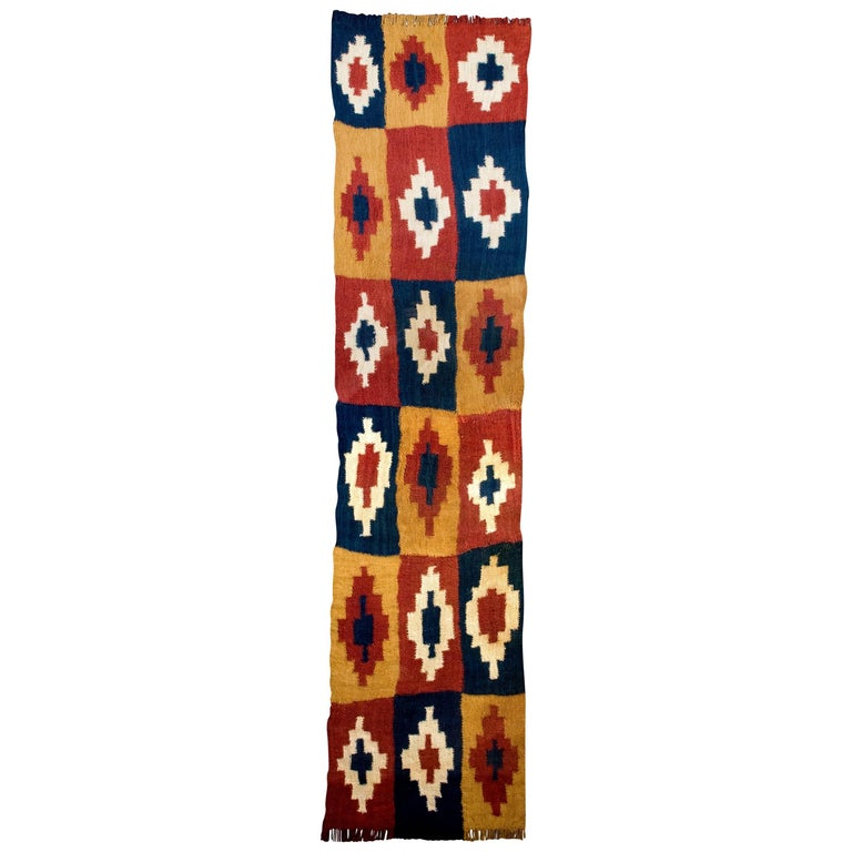 Pre-Columbian Nazca Cross-Patterned Textile, Peru, 300-600 AD, Ex-Sotheby's