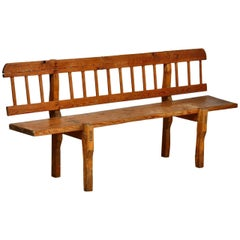 18th Century Country French Farmhouse Pine Bench