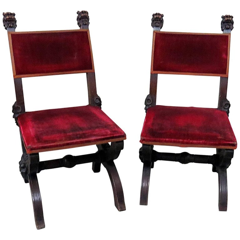 Pair of Victorian Griffin Lolling Chairs