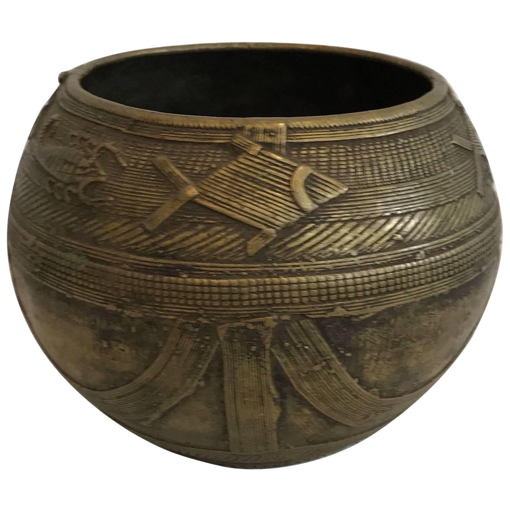 Early 20th century Dhorkra Measuring Bowl