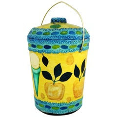 Mid-Century Modern Styrofoam Ice Bucket Aldo Londi Style Rimini Blue Color