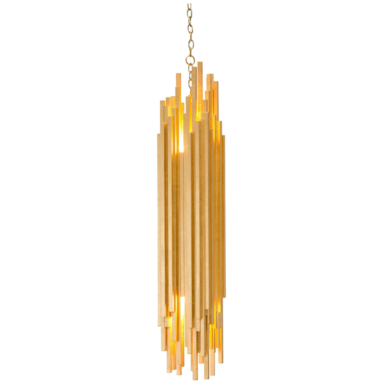 AMBROISE PENDANT - Modern Gold Leaf Pendant