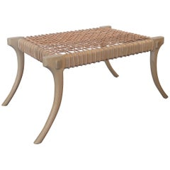 Haskell Studio Lola Bench in White Oak with Leather Cord