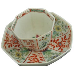 Tea Bowl and Saucer, Chelsea, Raised Anchor, circa 1750