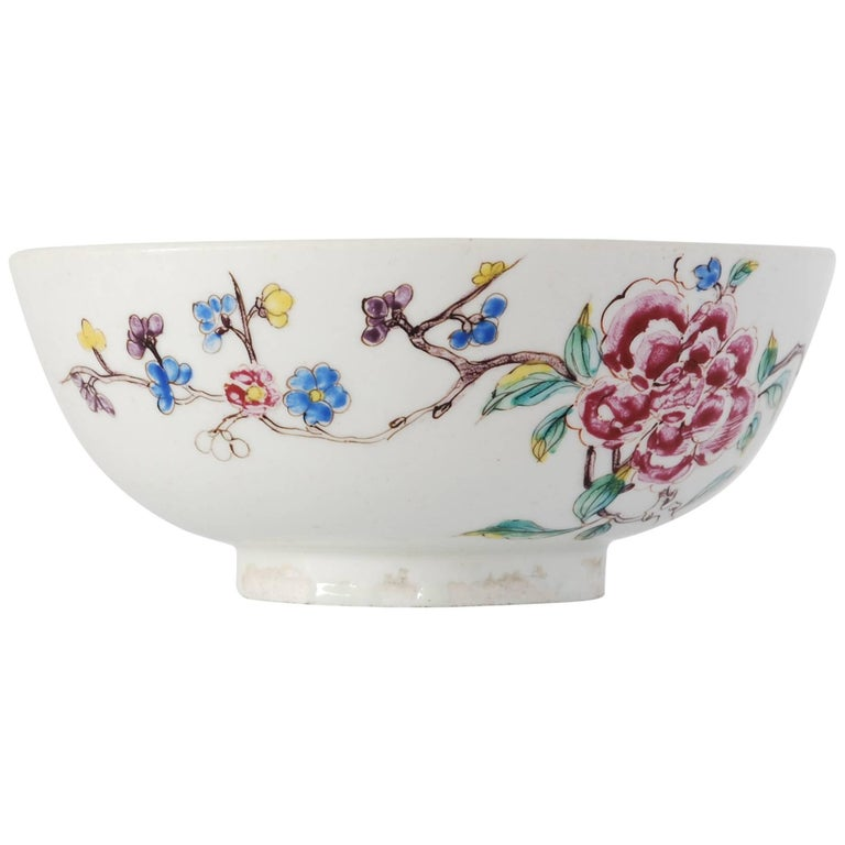 Bowl with Chinoiserie Decoration, Bow Porcelain Factory, circa 1752 For Sale