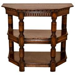 19th Century English Oak Shelf