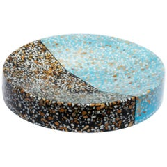 Fruit Bowl Multi-color Terrazzo Stone Contemporary Style (Long)